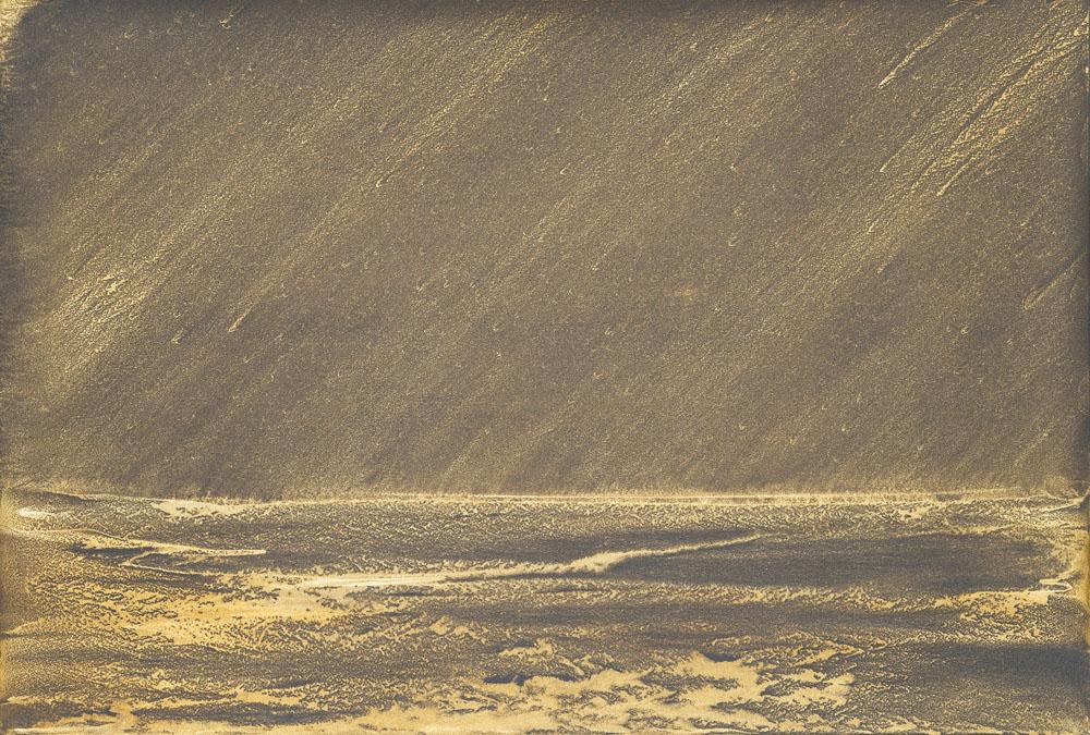 Sturry night_2019_olio e polvere di bronzo su carta abrasiva su tela_ 80x100cm