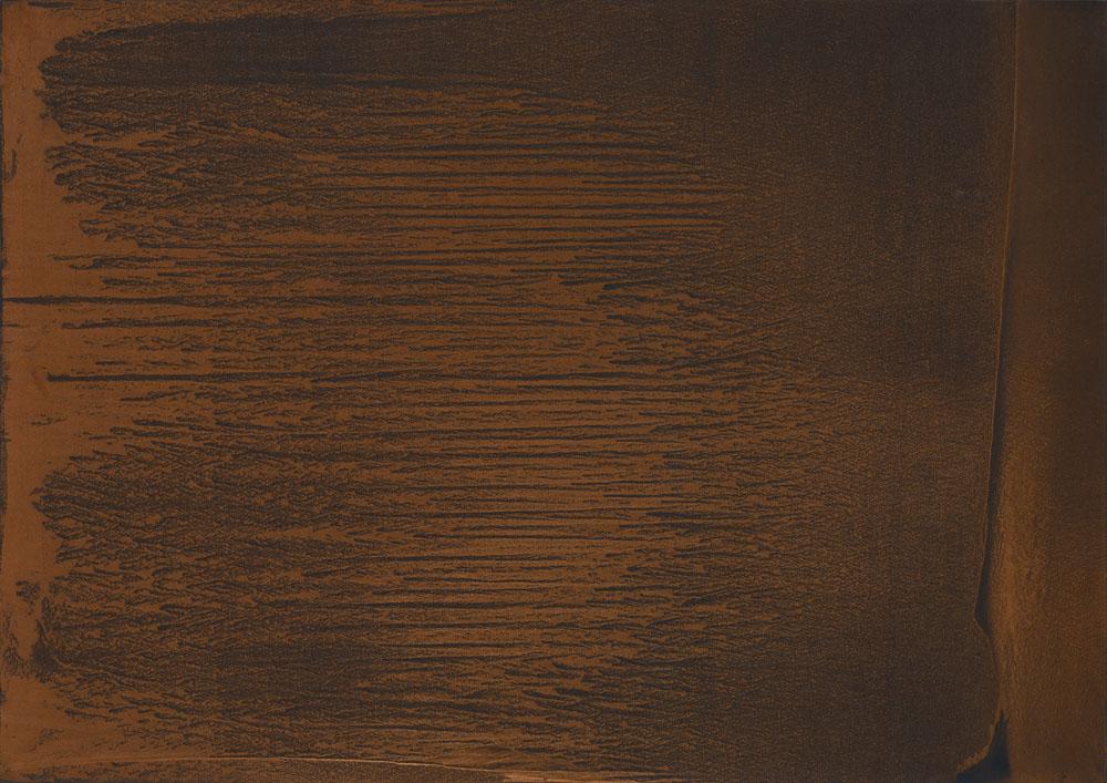 Tornando a noi_2019_polvere di rame bronzo e alluminio su carta abrasiva su tela_140x200cm