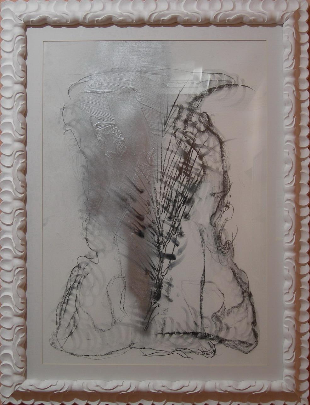 """""""Roma"""" 2003, tempera e matita su carta"""