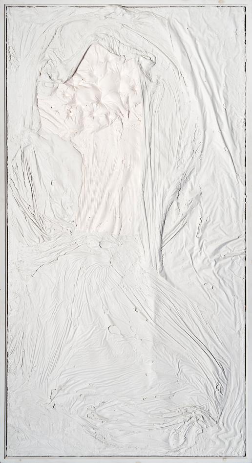 """""""Senza titolo"""" 2003, bassorilievo in gesso, 117 x 216 cm"""