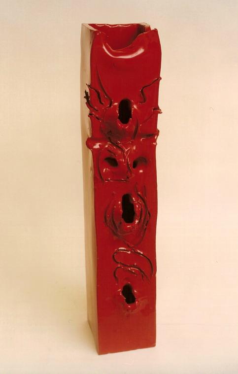 """""""Senza titolo"""" ceramica smaltata, 68.5 x 15 x 17 cm"""