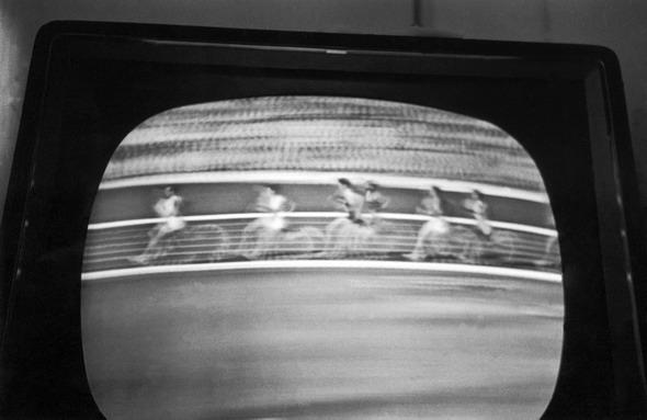 Italy, Sicily, Bagheria:Watching TV during the Olimpiades in Rome.(c) Ferdinando Scianna/Magnum Photos