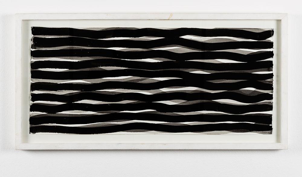 """""""Senza titolo"""" 2005, gouache su carta, 22 x 57 cm"""