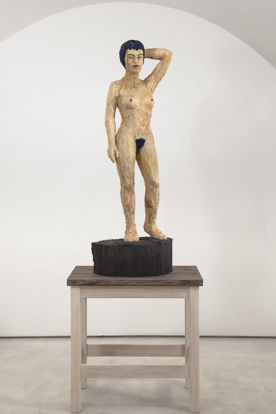 """""""Senza titolo"""" 2012, scultura in legno d'acero dipinto, 225 x 82 x 52 cm"""