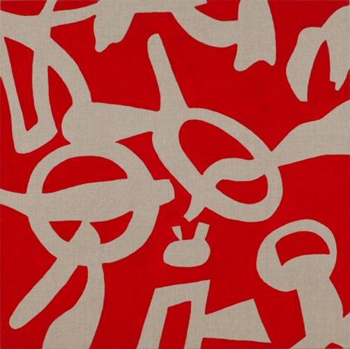 """""""Dispettosa teoria"""" 2013, acrilico su tela, 80 x 80 cm"""