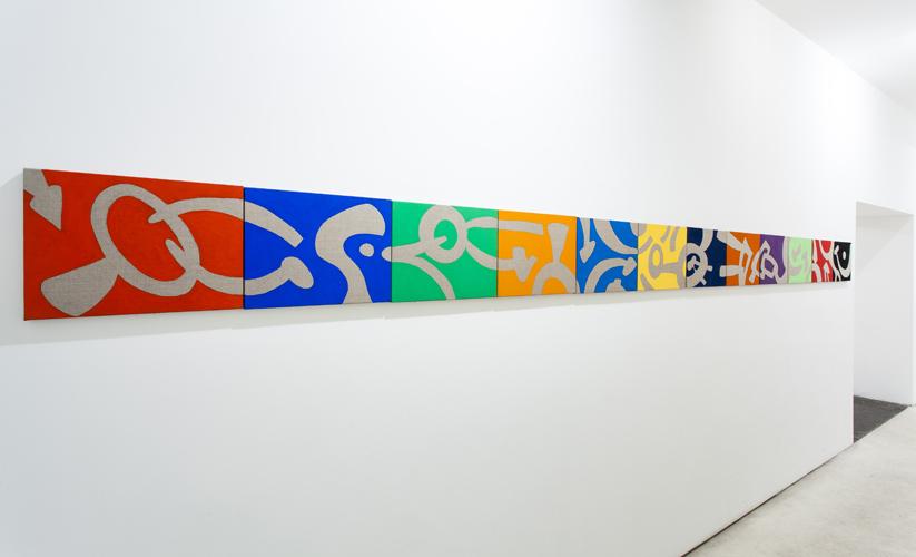 """""""Illusione"""" 2013, n°12 acrilici su tele, 30 x 40 cm ognuno"""