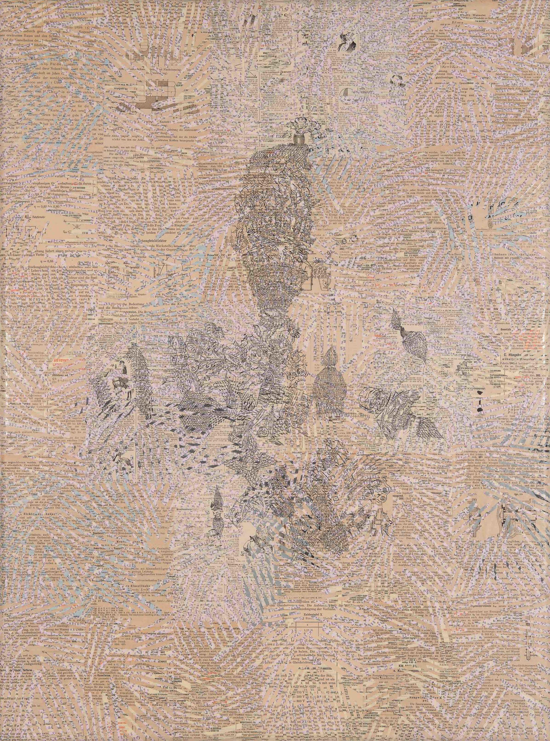"""""""Senza titolo"""" 2010, collage su carta"""