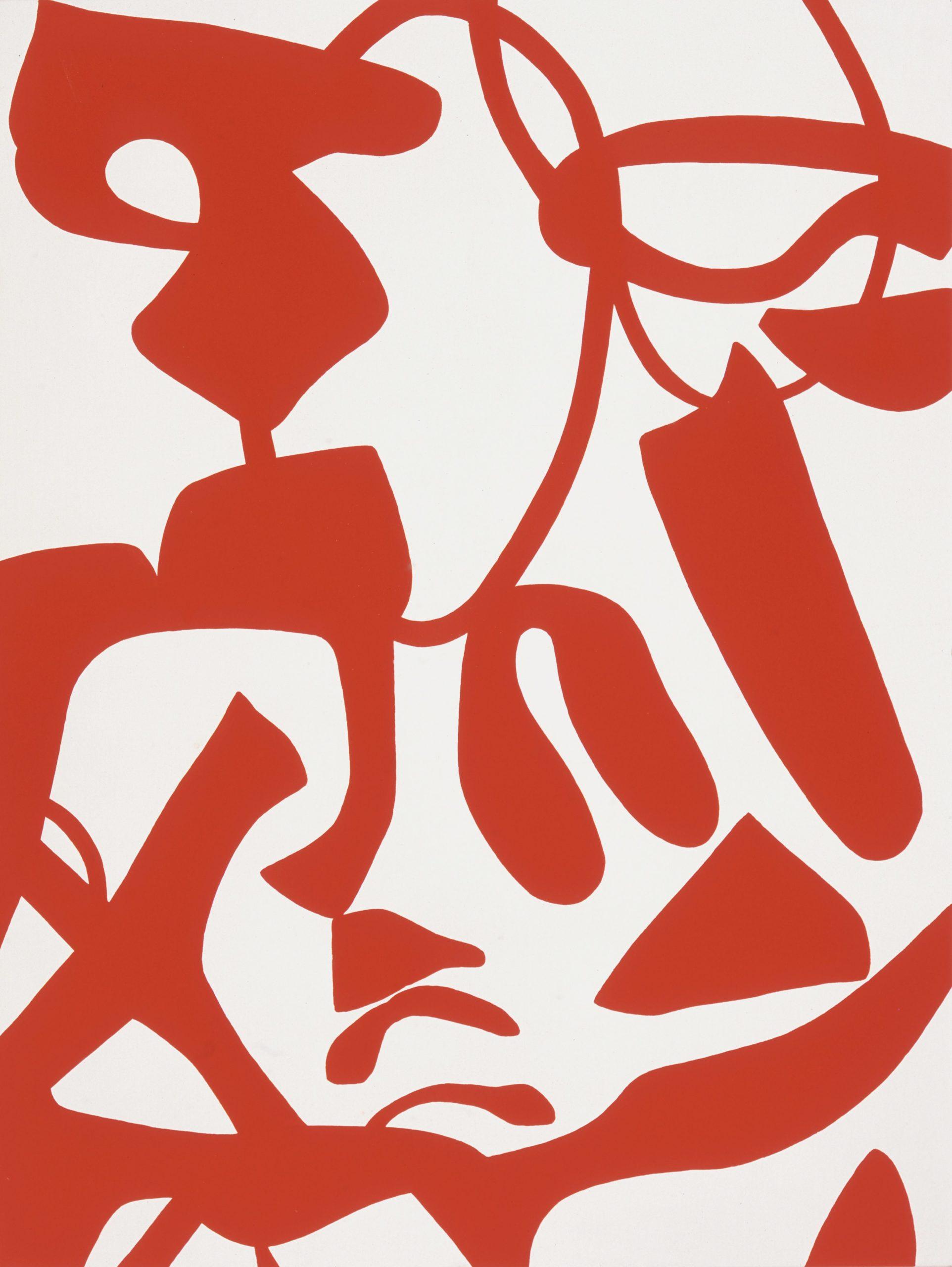 """""""Intenso rosso"""" 2008, vinilico su tela, 160 x 120 cm"""