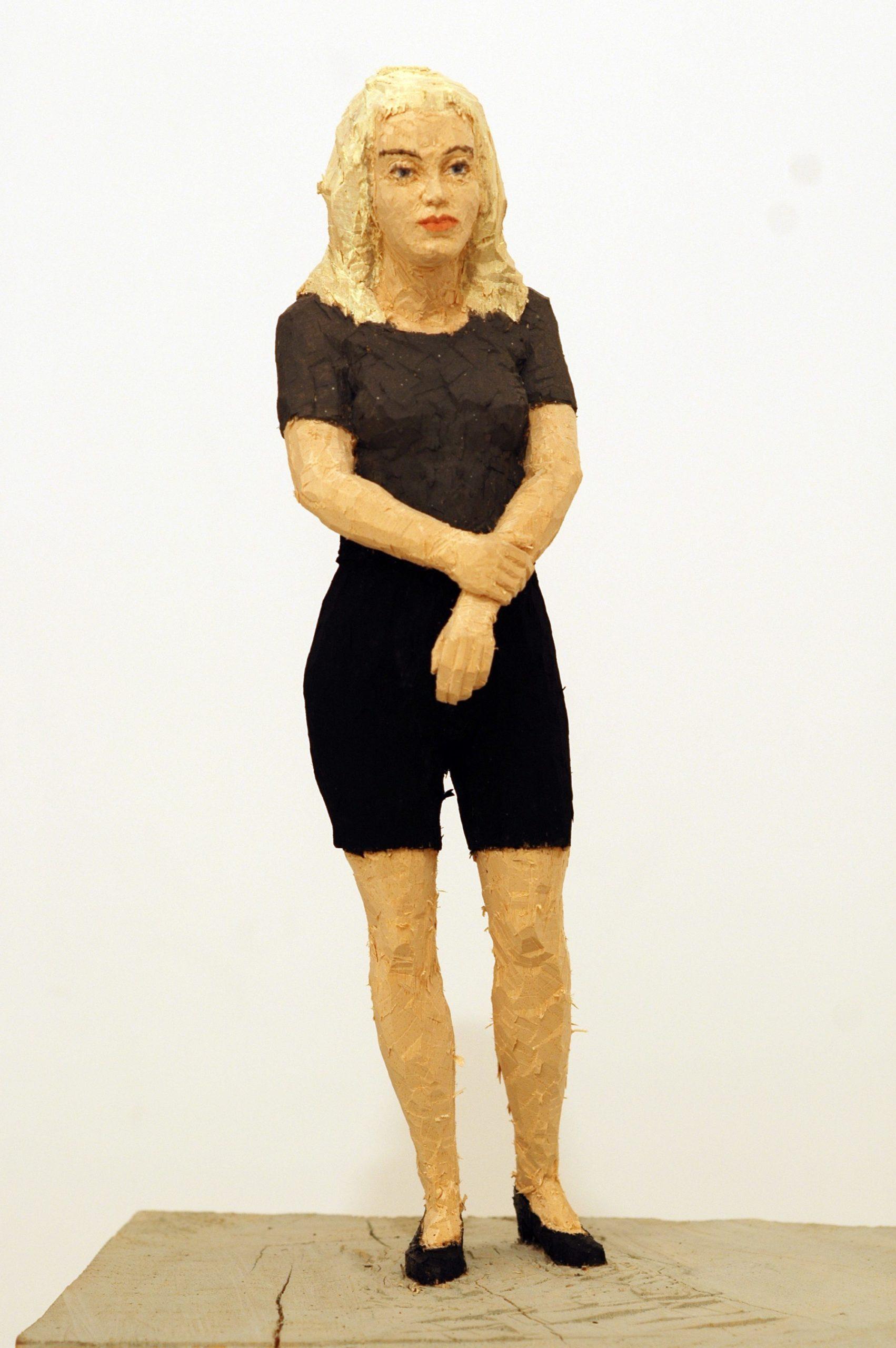 """""""Senza titolo"""" 2008, scultura in legno wawa dipinto, 174 x 35 x 25 cm"""