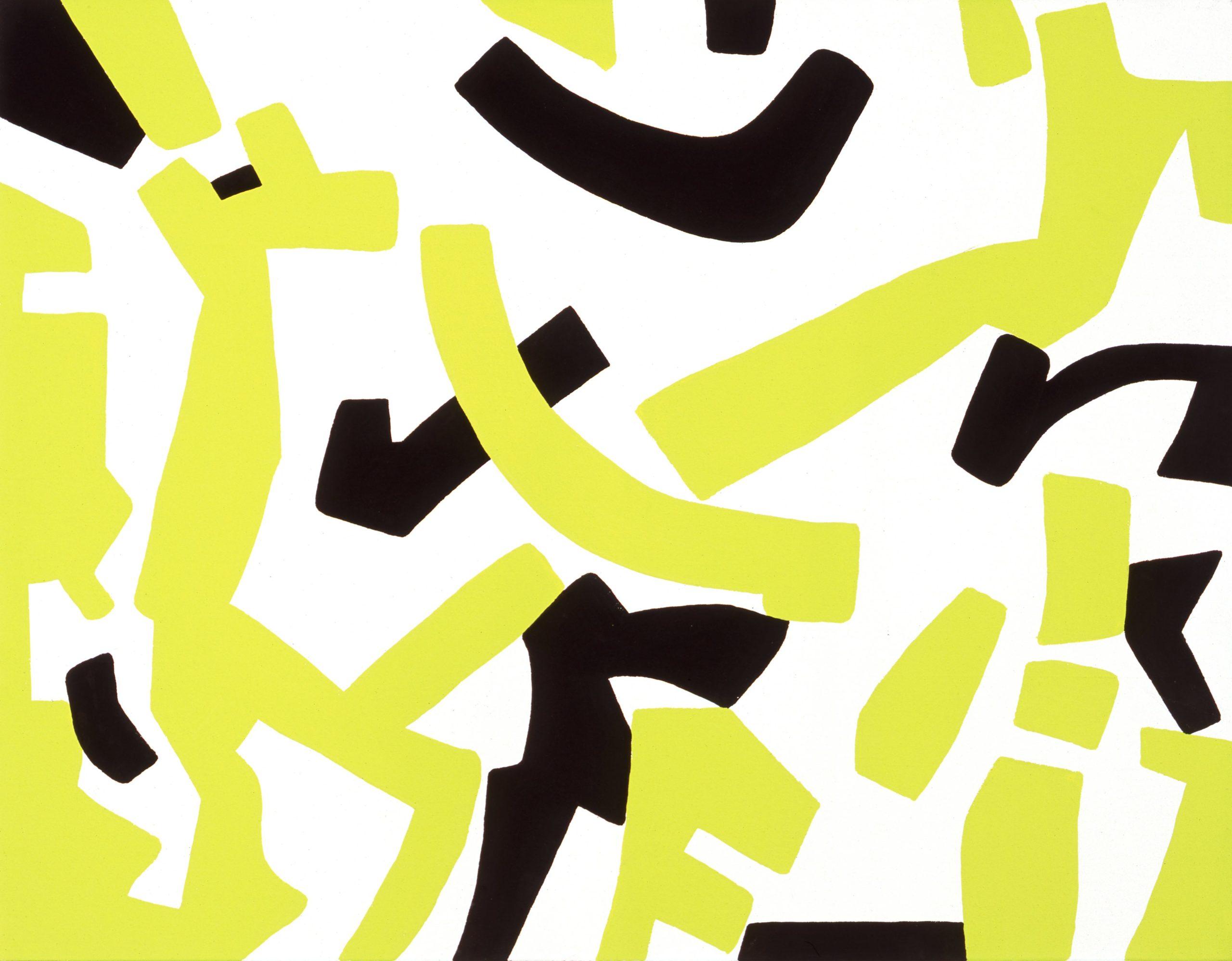 """Segni vaganti"" 2008, vinilico su tela, 70 x 90 cm"