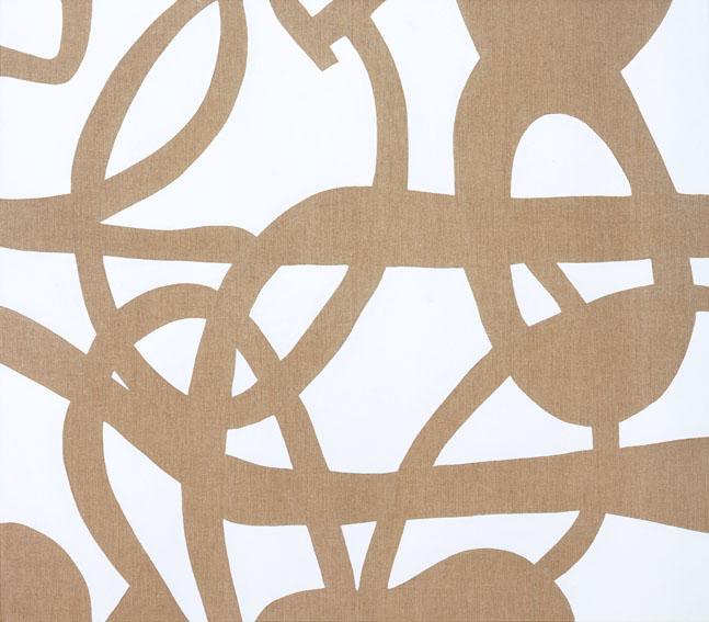 """Buio bianco"" 2008, vinilico su tela, 130 x 150 cm"