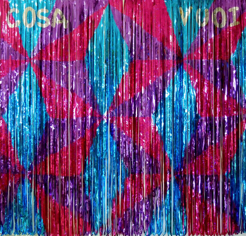 """Cosa vuoi"" 2015, mylar, 200 x 200 cm"