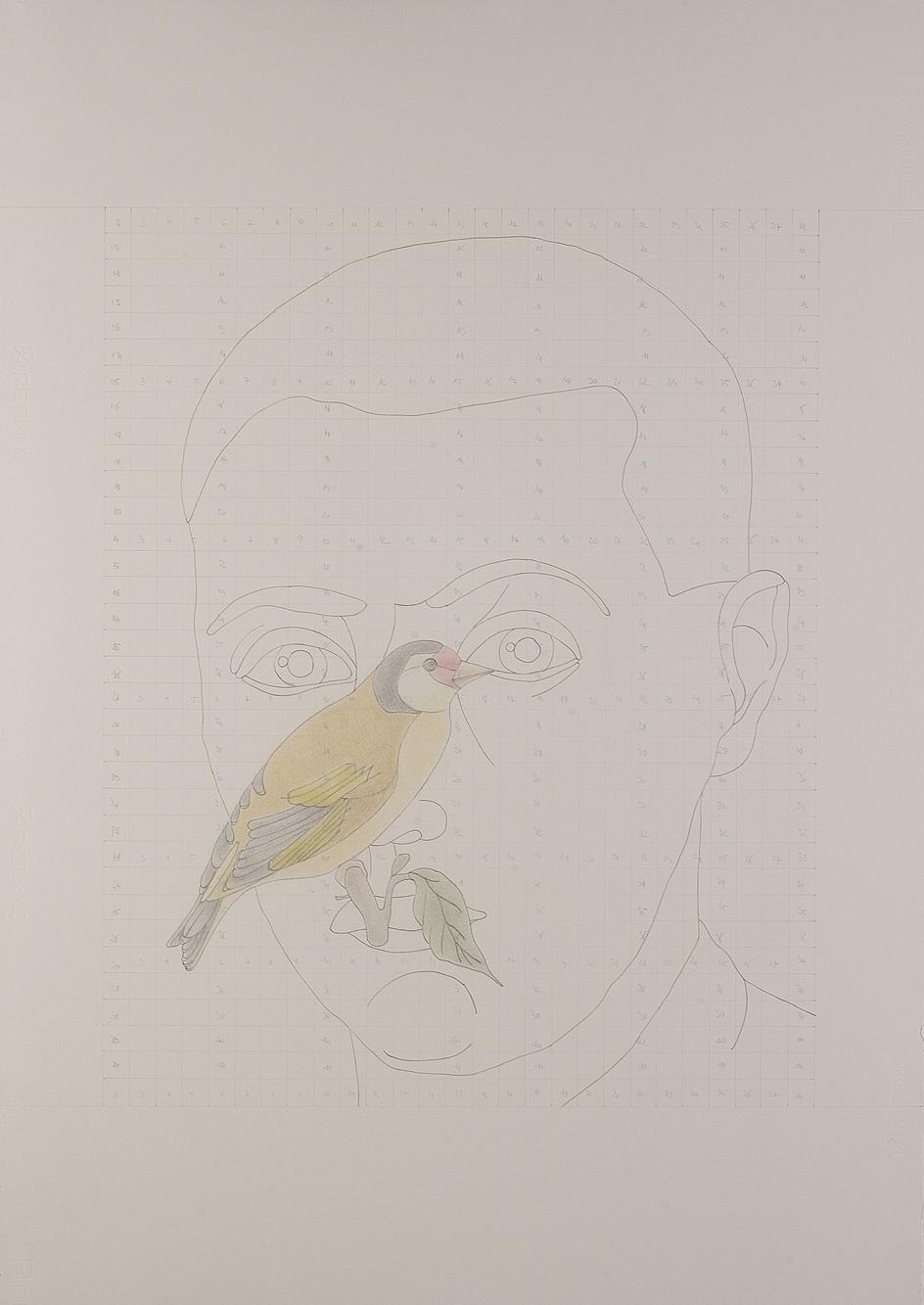 """Un mattino"" 2009, matita su carta, 100 x 70 cm"