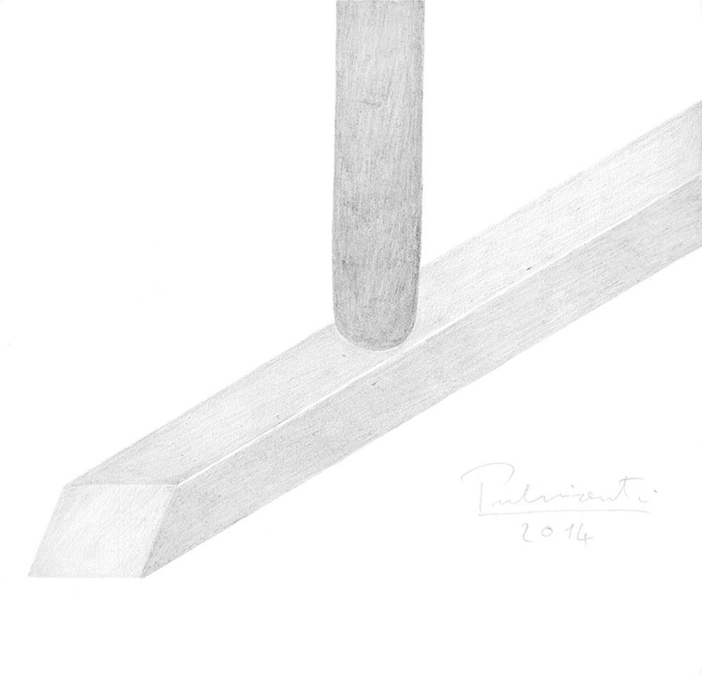 """Losanga"" 2014, matita su carta 220g, 25 x 26 cm"