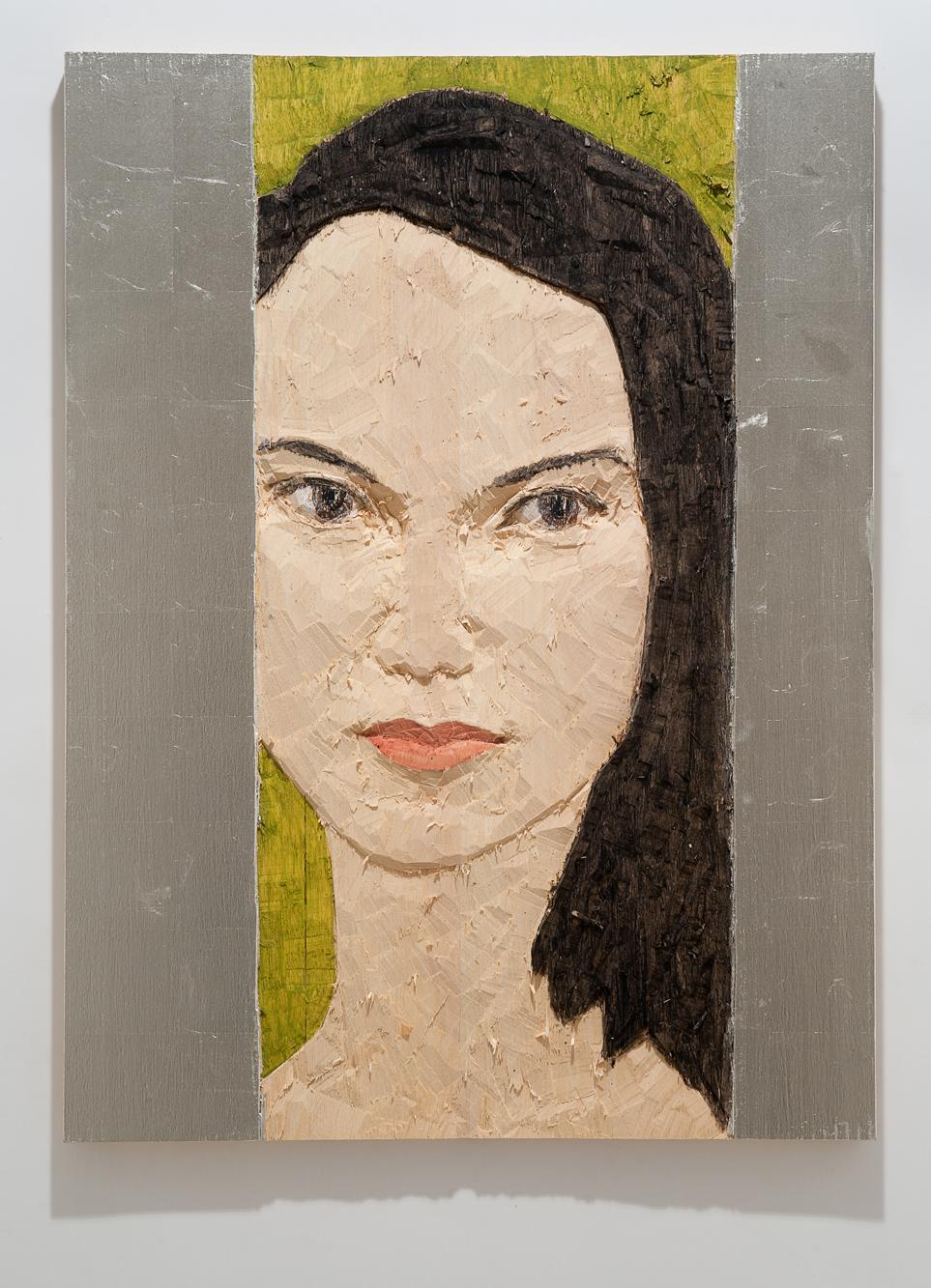 """""""Senza titolo"""" 2012, bassorilievo su legno wawa dipinto, 60 x 80 cm"""