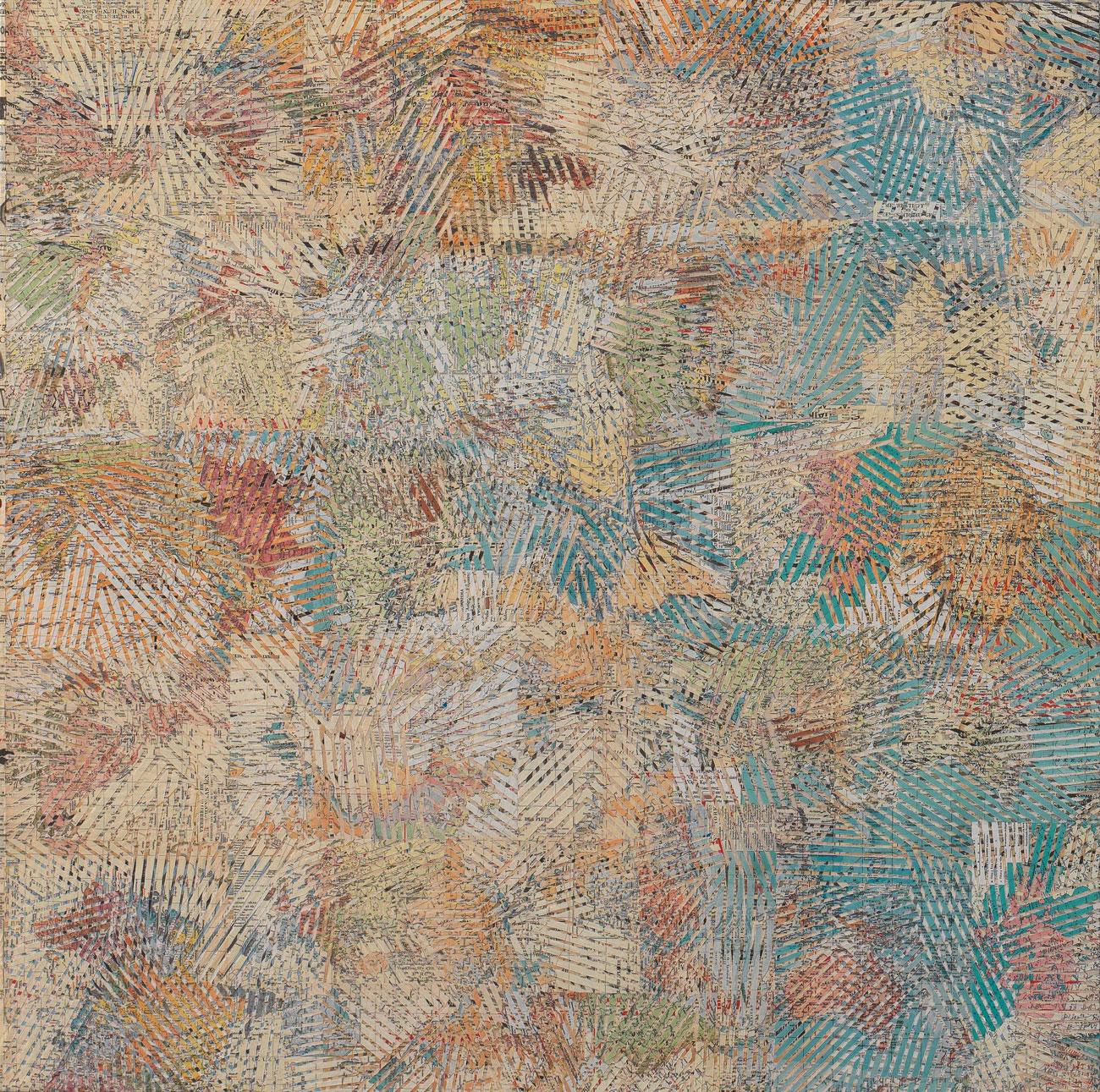 """""""Senza titolo"""" 2014, collage su carta, 100 x 100 cm"""
