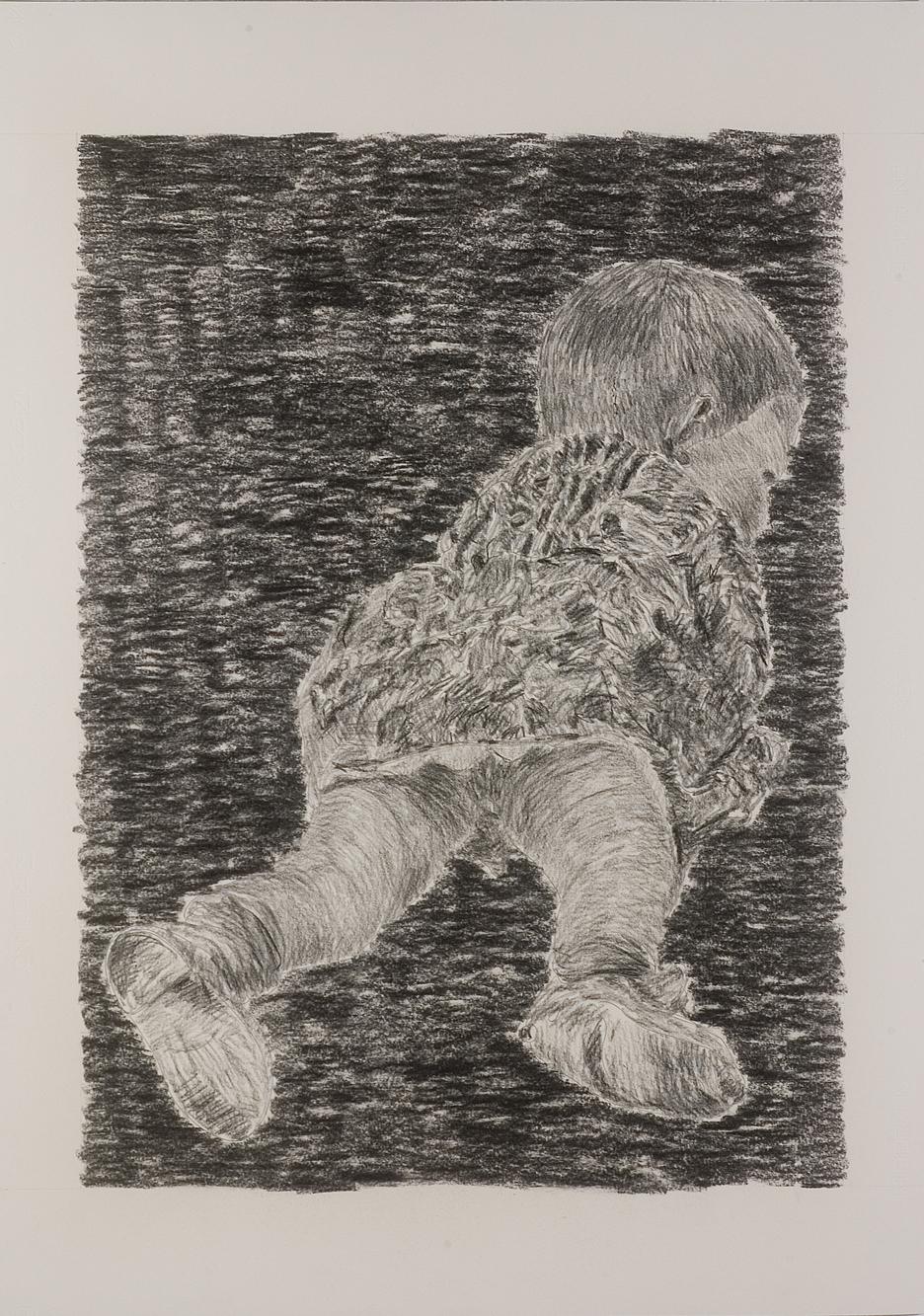 """Un mattino"" matita su carta, 100 x 70 cm"