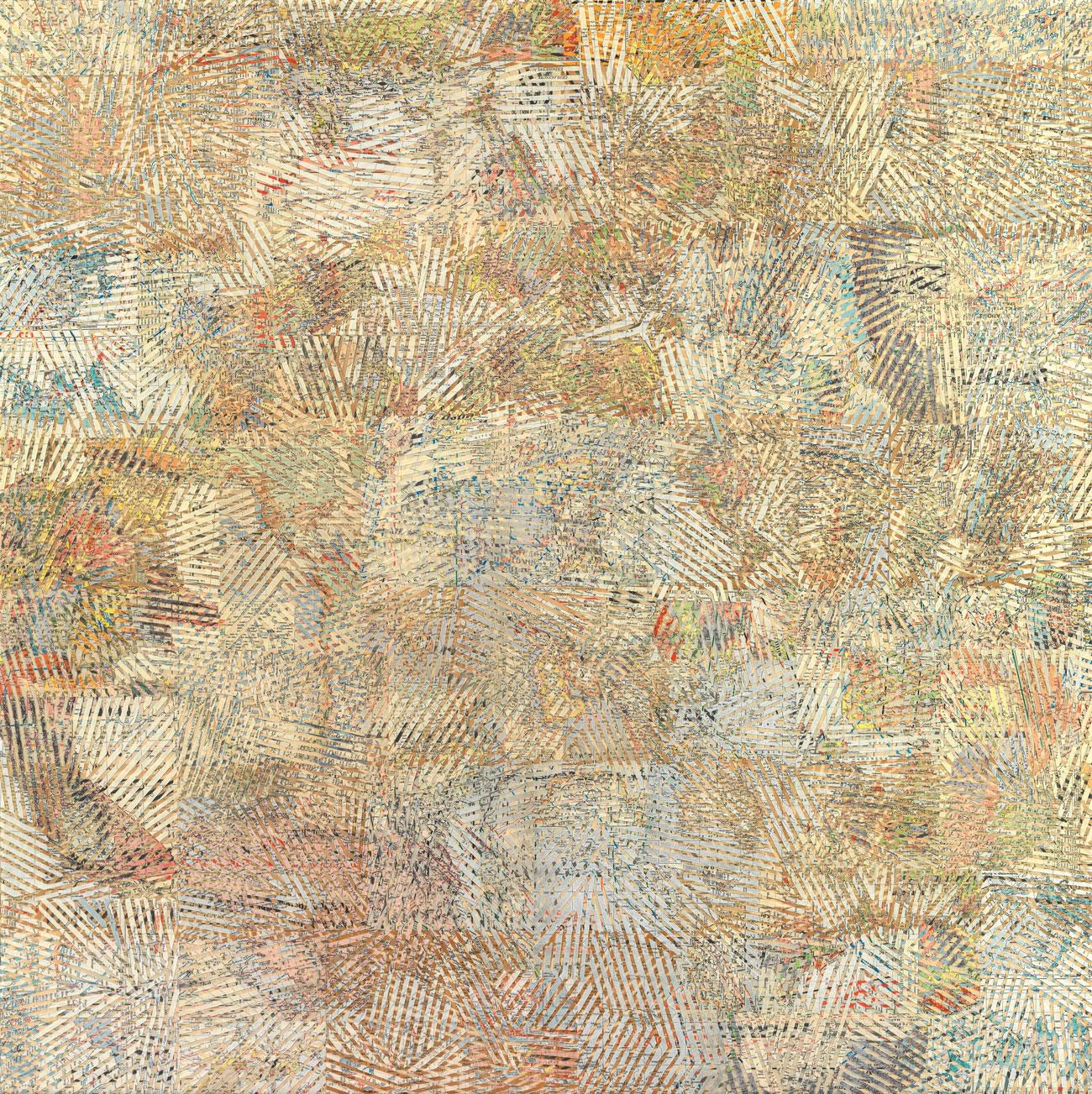"""""""Senza titolo"""" 2015, collage su carta, 150 x 150 cm"""