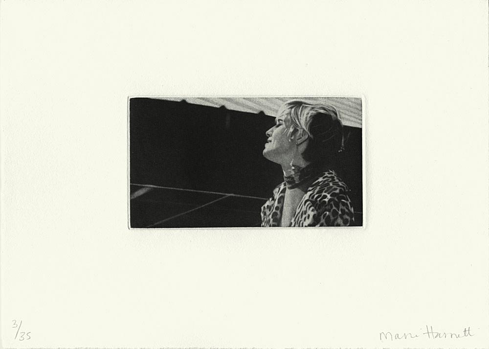 """Leopard Print, Factory Girl"" 2002, mezzatinta, 6.8 x 12.4 cm, ed. 35"