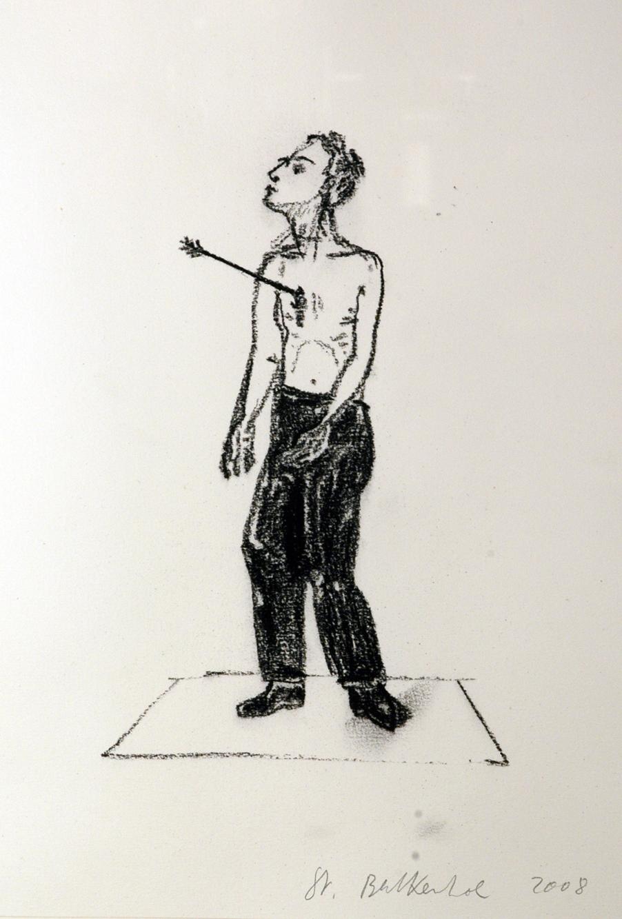 """""""Senza titolo"""" 2008, disegno su carta, 32 x 24 cm"""