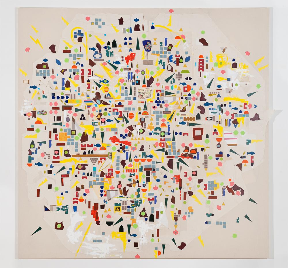 """Axi"" 2011, tecnica mista su tela, 220 x 220 cm"