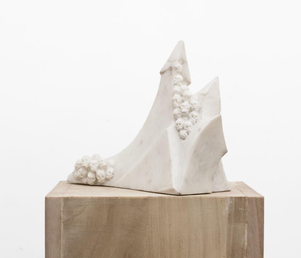 """Cattedrale"" 2008, marmo bianco, 35 x 19 x 27 cm"