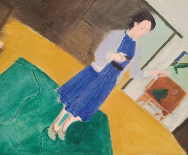 """Drawing quasi painting (Delfina II)"" 2017, olio su tela, 39.5 x 50 cm"