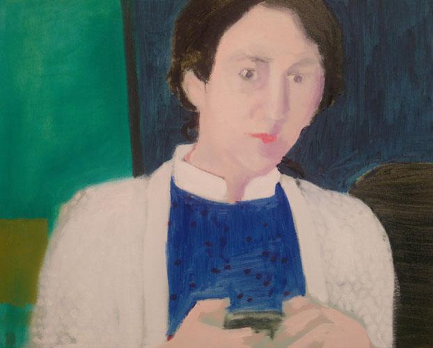 """Drawing quasi painting (Delfina)"" 2017, olio su tela, 39.5 x 50 cm"