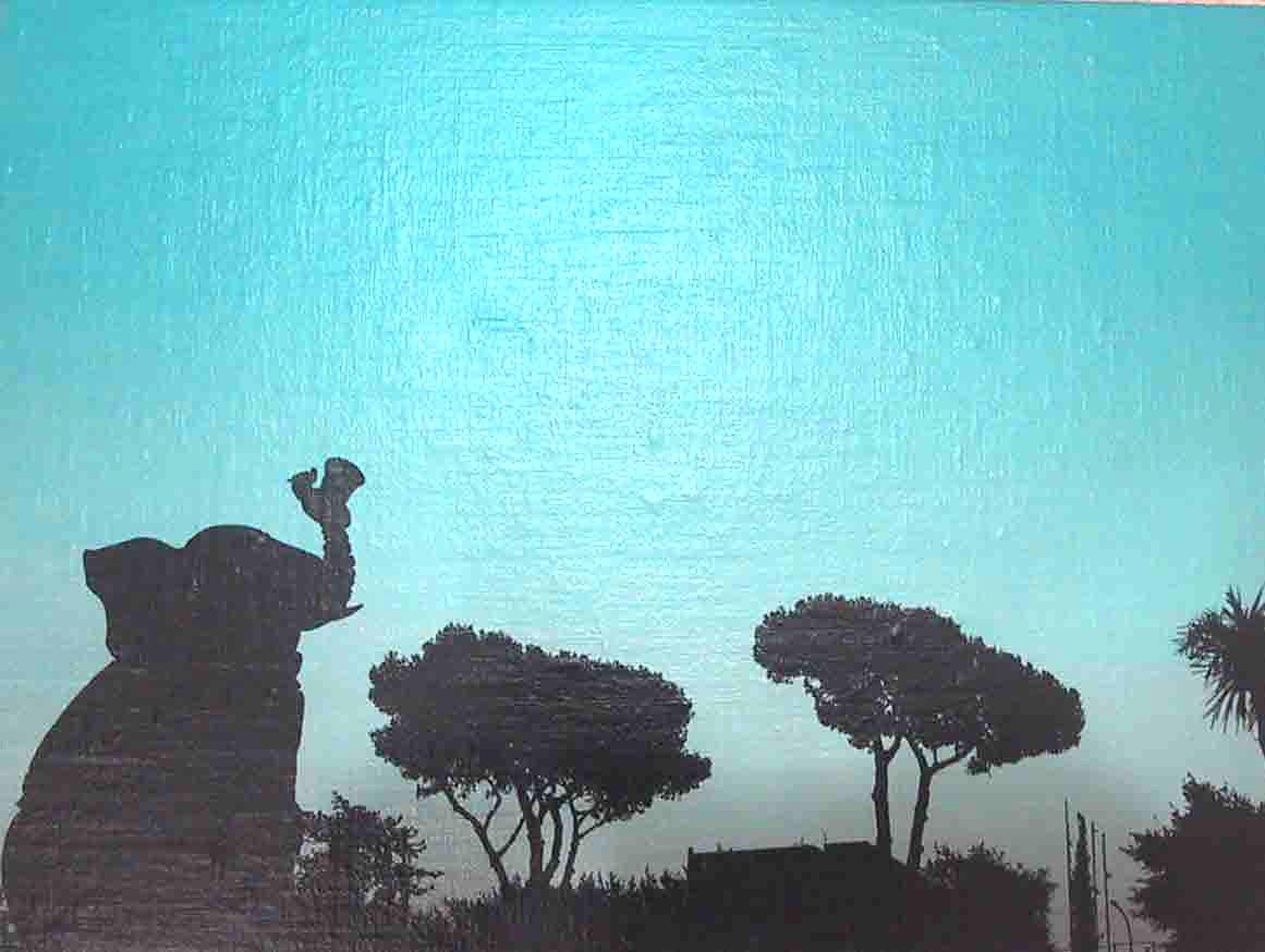 """""""Eur"""" 2003, olio su tela, 30 x 40 cm"""