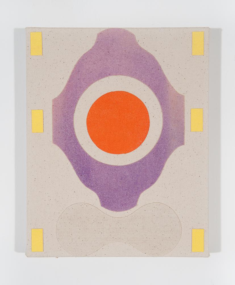 """""""Gum"""" 2011, collage misto su tela, 25.5 x 20 cm"""