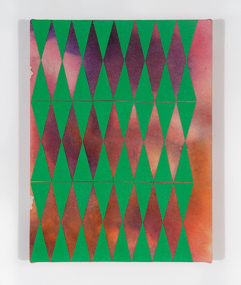 """Hox"" 2011, tecnica mista su tela, 23 x 31 cm"
