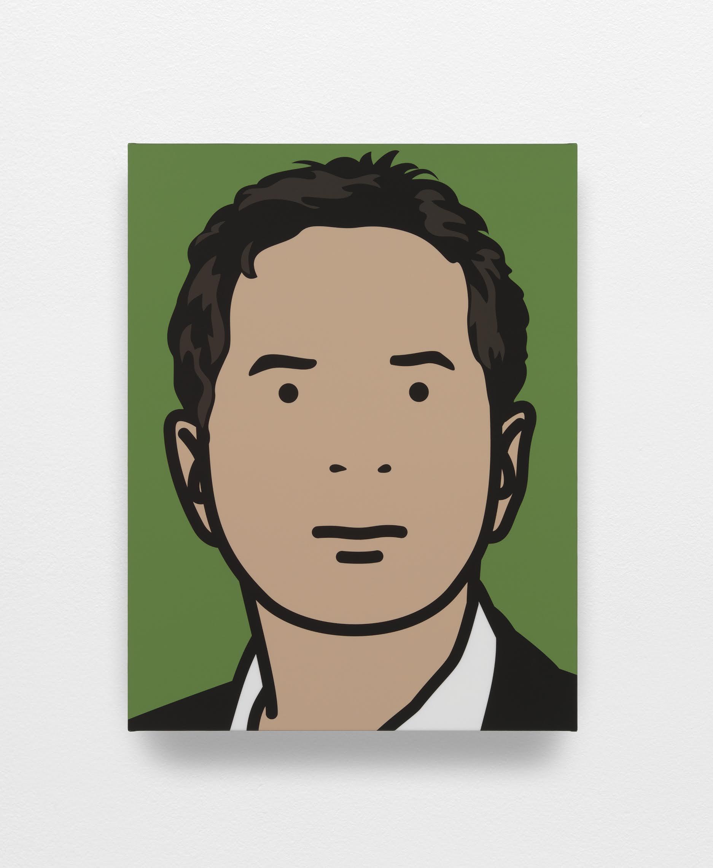 """""""Jodi 1"""" 2010, serigrafia su tavola di legno, 35.2 x 27.2 x 3 cm"""