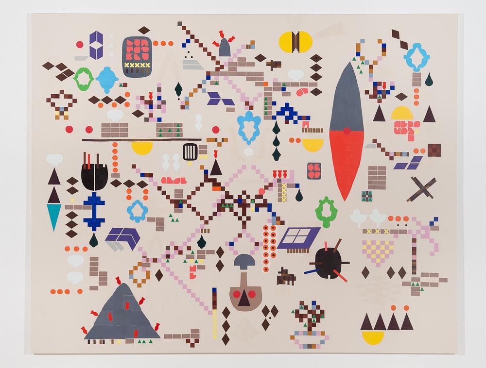 """Kake"" 2011, tecnica mista su tela, 253 x 200 cm"