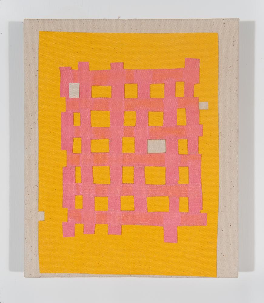 """""""Krism"""" 2011, collage di staffa su tela, 21.5 x 26 cm"""