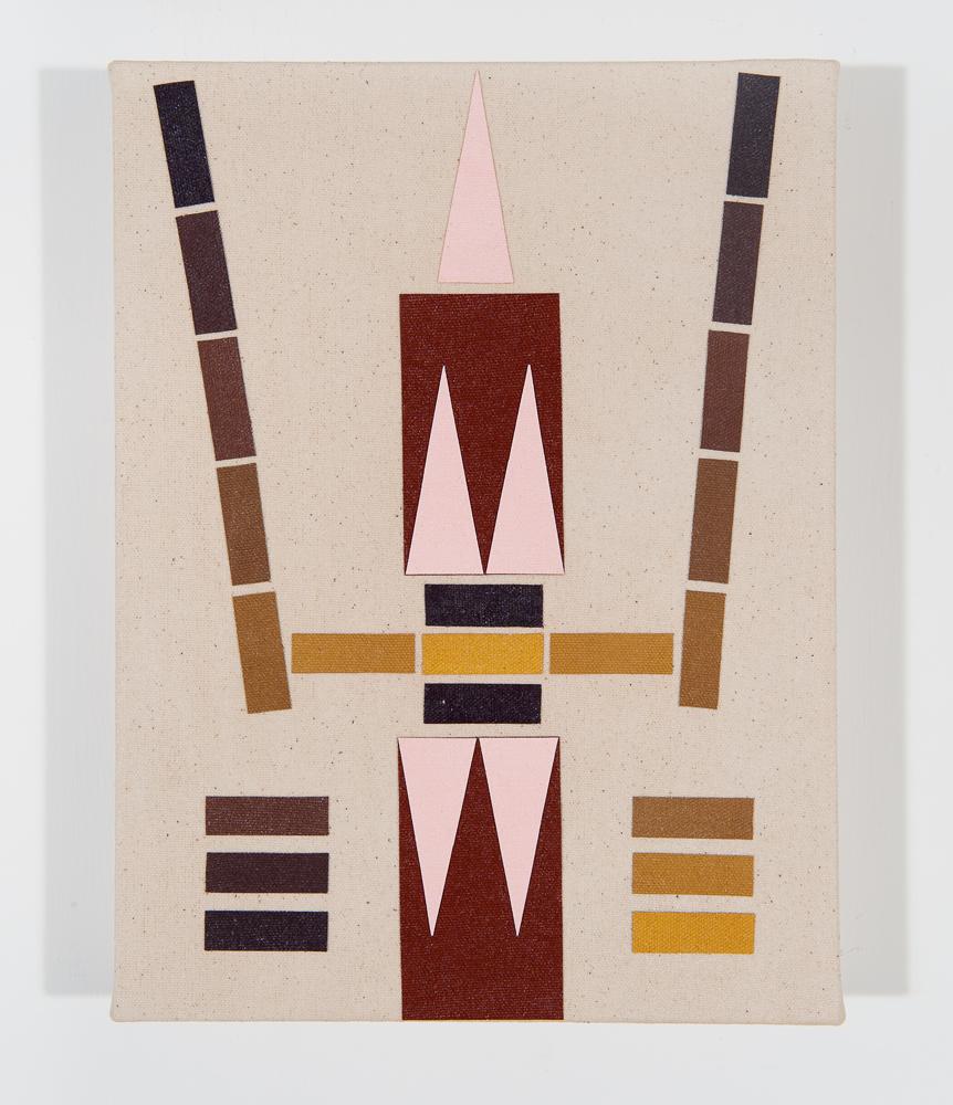 """""""Link"""" 2011, collage di staffa su tela, 22.5 x 30.5 cm"""