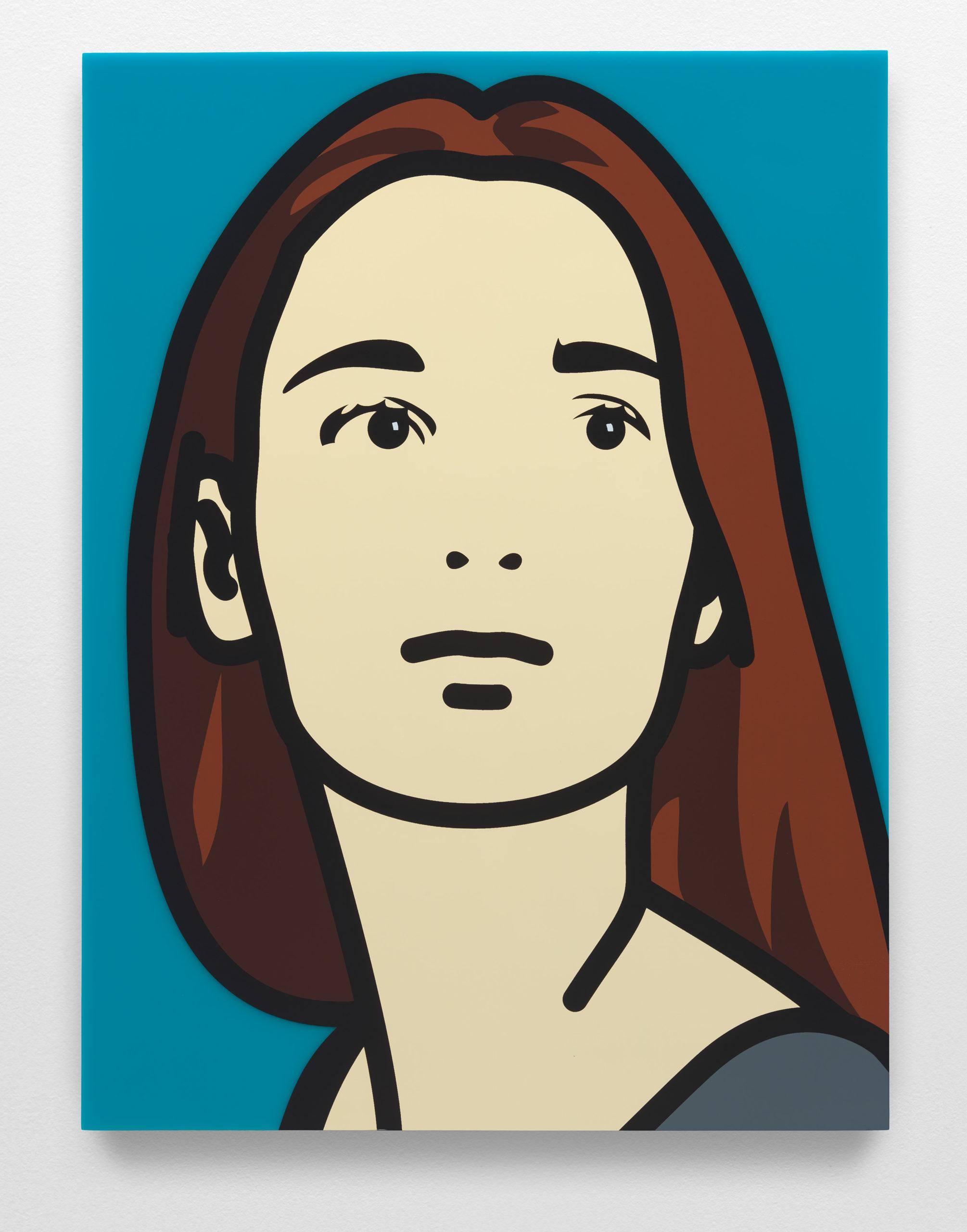 """""""Lucia 3"""" 2017, serigrafia su pannello acrilico, 35 x 26.2 x 2.5 cm"""