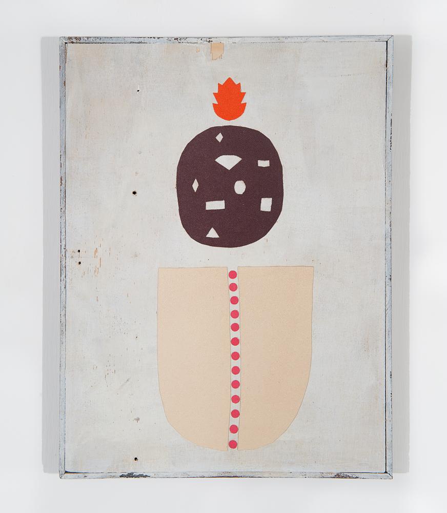 """""""Noman"""" 2011, collage di staffa su tela, 37 x 28 cm"""