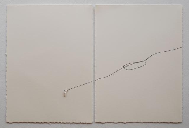 """""""Black line"""" tecnica mista su carta"""