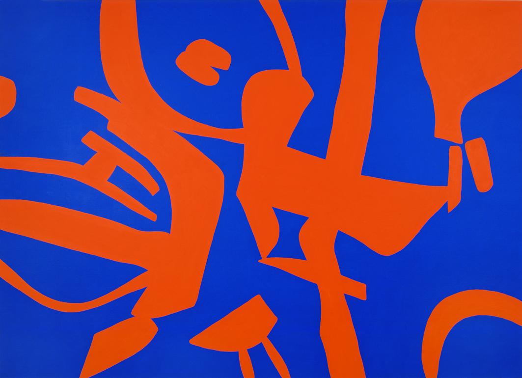 """""""Riscontri imperfetti"""" 2006, vinilico su tela grezza, 160 x 220 cm"""
