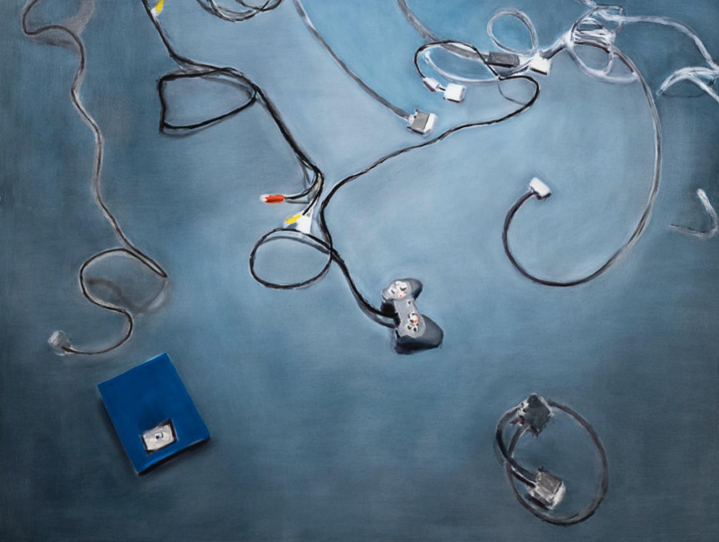 """My floor (zip drive"" 1997, olio su tela, 193 x 265 cm"