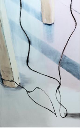 """""""Untitled (Torre Rasini III)"""" 2019, olio su tela, 180 x 112.5 cm"""