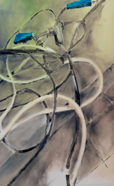 """""""Untitled (MC)"""" 2019, olio su tela, 180 x 112.5 cm"""
