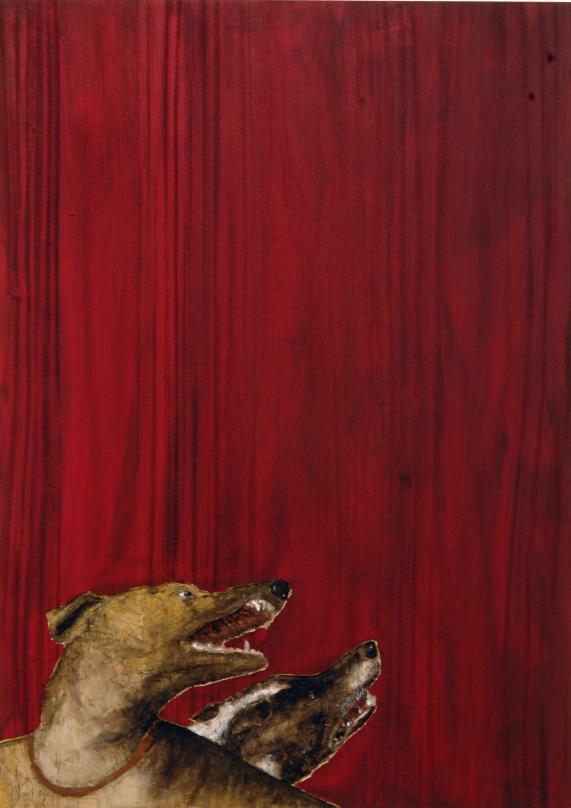 """""""Senza titolo"""" 2008, bassorilievo su legno wawa dipinto, 140 x 100 cm"""