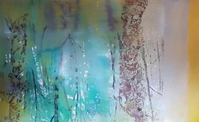 """Nora's zone (in between)"" 2010, olio su compensato, 177.8 x 111.1 cm"