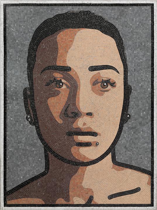 """Katie 1"" 2011, mosaico, 152.8 x 113.4 cm"