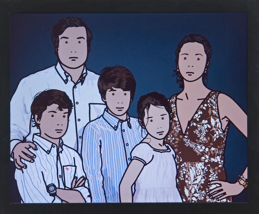 """The Ortega family"" 2008, computer film - 19"" LCD screen, 34.5 x 42 cm"