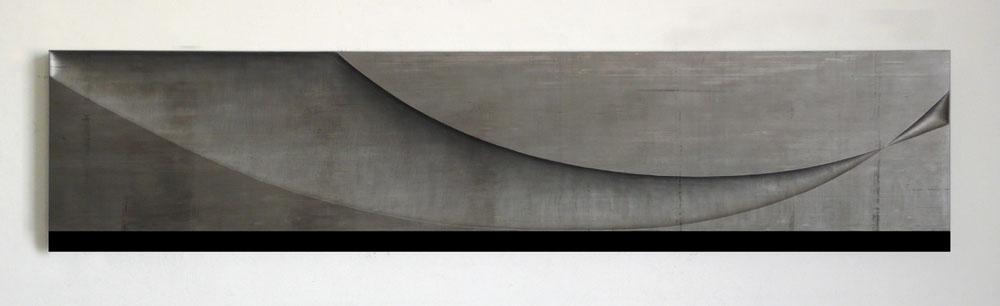 """""""Senza titolo"""" 2012, piombo su legno, 40 x 180 x 4 cm"""