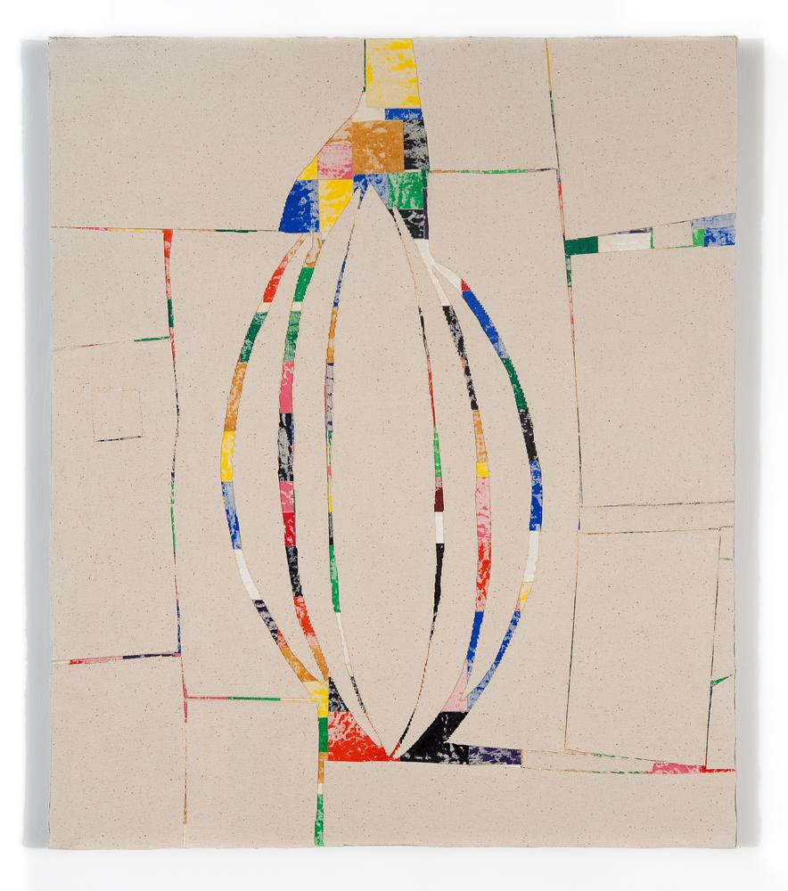 """""""Sliv"""" 2011, collage di staffa su tela, 60 x 50 cm"""