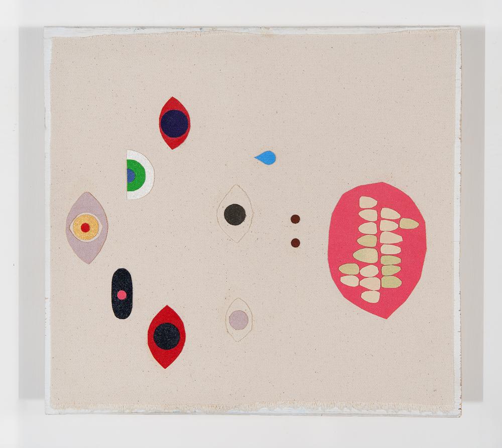 """""""untitled"""" 2011, collage di staffa su tela, 32 x 30 cm"""