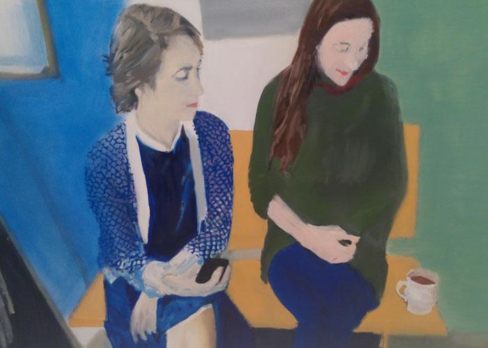 """Untitled (Didone & Delfina)"" 2013, olio su tela, 79 x 120 cm"